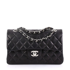 492676b8337f Chanel Vintage Classic Double Flap Bag Quilted Lambskin Small