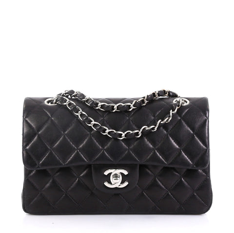 509d997a7103 Chanel Vintage Classic Double Flap Bag Quilted Lambskin Small – Rebag