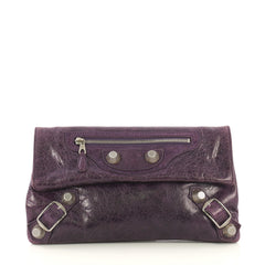 Envelope Clutch Giant Studs Leather