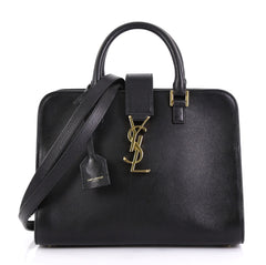 Saint Laurent Monogram Cabas Leather Baby Black 423703