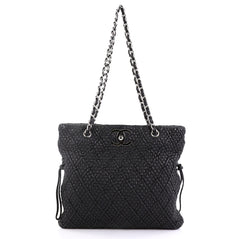 Chanel CC Lock Bon Bon Tote Matelasse Leather Large Black 423742