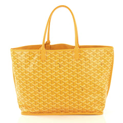 Goyard Anjou Reversible Tote Coated Canvas PM Yellow 423941