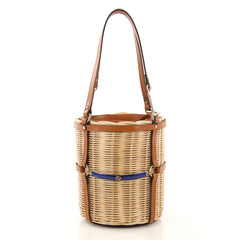 Gucci Cestino Bucket Bag Wicker Small - Designer Handbag - Rebag