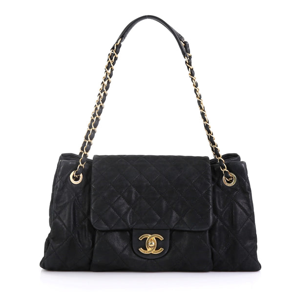 2378a08e245b2e Chanel Chic Quilt Accordion Flap Bag Quilted Iridescent 4239635 – Rebag