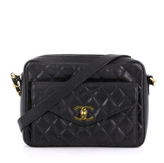 2a753cb2110c4c Chanel Vintage Front Pocket Camera Bag Quilted Caviar Medium