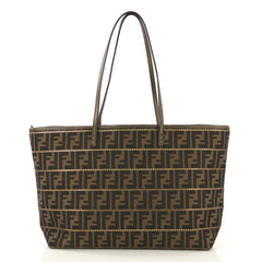 Fendi Roll Tote Studded Zucca Coated Canvas Large - Rebag