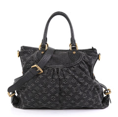 Louis Vuitton Neo Cabby Handbag Denim GM