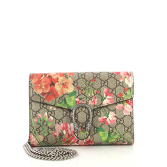Gucci Dionysus Chain Wallet Blooms Print GG Coated Canvas 424011