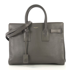 Saint Laurent Sac de Jour Bag Leather Small Gray 424211