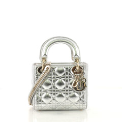 Christian Dior Lady Dior Handbag Cannage Quilt Textured 424241