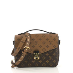 Louis Vuitton Pochette Metis Reverse Monogram Canvas Brown 4243001