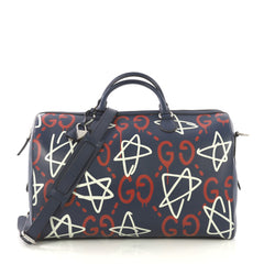 Gucci Convertible Duffle Bag GucciGhost Leather - Rebag
