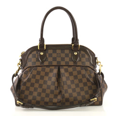 Louis Vuitton Trevi Handbag Damier PM Brown 424851