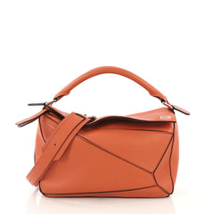 Loewe Puzzle Bag Leather Medium Orange 425011