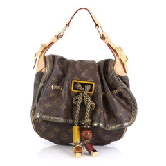 Louis Vuitton Kalahari Handbag Monogram Canvas PM