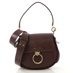 Chloe Tess Bag Leather Large Purple 425131