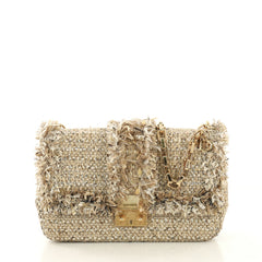 Christian Dior Miss Dior Flap Bag Tweed Medium Neutral 425161