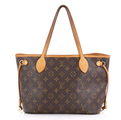 Louis Vuitton Neverfull Tote Monogram Canvas PM Brown 425241