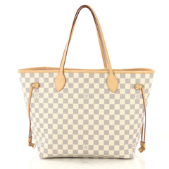 Louis Vuitton Neverfull NM Tote Damier MM White 425251