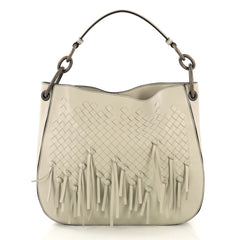 Bottega Veneta Loop Shoulder Bag Fringe Intrecciato Nappa Medium