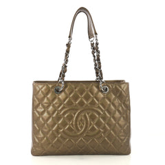 Chanel Grand Shopping Tote Quilted Caviar Gold 425611