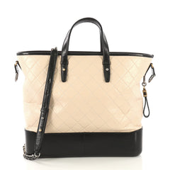 Chanel Model: Gabrielle Shopping Tote Quilted Calfskin Medium Neutral 42571/2