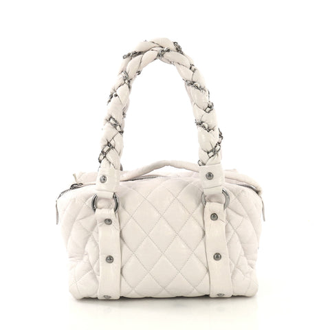 a0c9925bf36be7 Chanel Lady Braid Bowler Bag Quilted Distressed Lambskin Small – Rebag