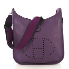 Hermes Evelyne Crossbody Gen III Clemence PM Purple 425791