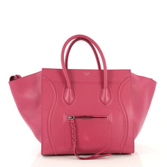 Celine Model: Phantom Bag Textured Leather Medium Pink 42582/2