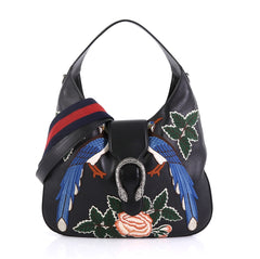 Dionysus Hobo Embroidered Leather Small