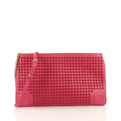 Christian Louboutin Loubiposh Clutch Spiked Leather - Rebag