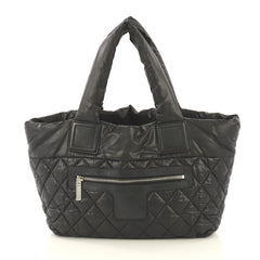 Chanel Coco Cocoon Reversible Tote Quilted Nylon Small Black 4259123