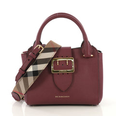 Burberry Buckle Tote Leather Small