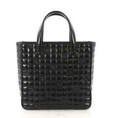Chanel Model: Chocolate Bar CC Tote Quilted Patent Small Black 42595/14