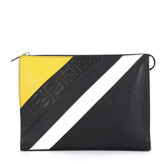Fendi Model: Zip Clutch Mixed Media Small Black 42595/24
