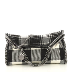 Stella McCartney Model: Falabella Fold Over Bag Gingham Wool Black 42595/36