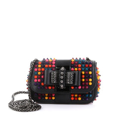 Christian Louboutin Model: Sweet Charity Crossbody Bag Spiked Leather Mini Black 42595/40