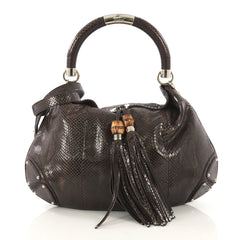 Gucci Model: Indy Hobo Python Large Brown 42595/44