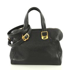 Fendi Model: Chameleon Satchel Leather Medium Black 42610/1