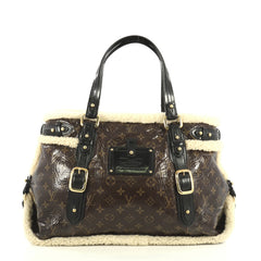Louis Vuitton Thunder Handbag Limited Edition Monogram and Shearling  Brown 42611128