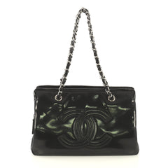 Chanel Lipstick Tote Patent Vinyl Medium Black 42611183