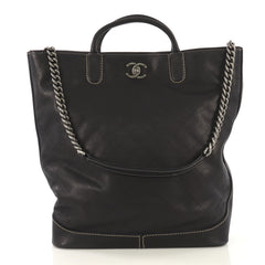 Chanel CC Lock Tote Quilted Caviar Large