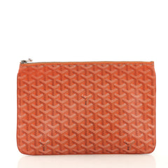 Goyard Senat Zip Pouch Coated Canvas MM