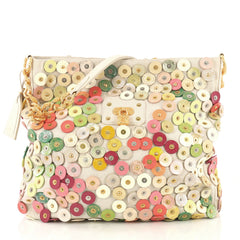 Louis Vuitton Polka Dot Fleur Morgane Handbag Embellished Canvas