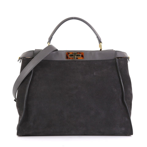 bd8de4ed Peekaboo Bag Suede with Calf Hair Interior Large