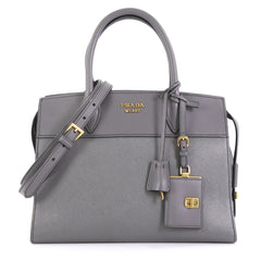 Prada Esplanade Bag Saffiano Leather Medium  gray 42629/9