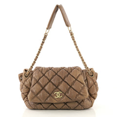 87c6f0857ff8 Chanel Bubble Accordion Flap Bag Quilted Lambskin Medium