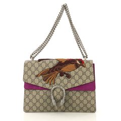 Gucci Dionysus Bag Embroidered GG Coated Canvas Medium