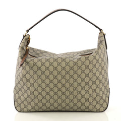 Gucci Chain Hobo GG Coated Canvas Large  brown 42659/1