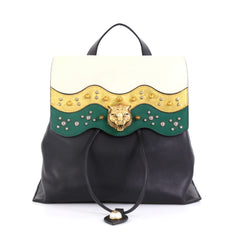 Gucci Animalier Malin Backpack Studded Leather Medium 42680/2